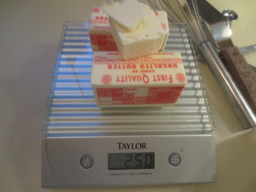 250 grams of unsalted butter
