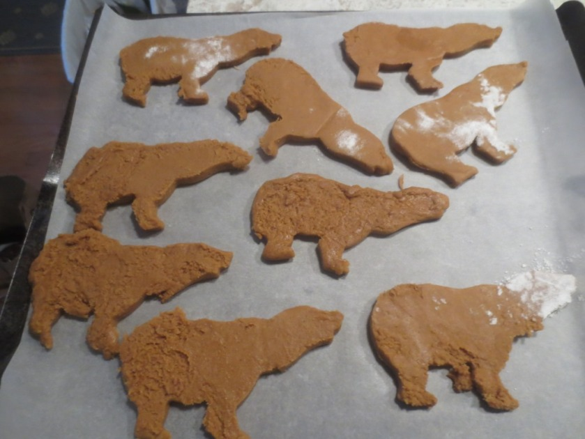 The first try was more like hippos than polar bears.