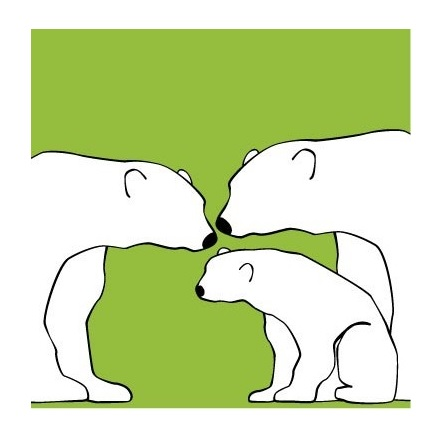 A simple expression of polar bears -- simple enough for me.