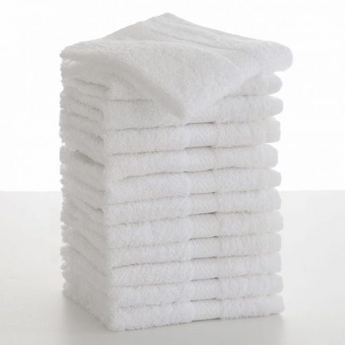 A dozen clean white washcloths would be extravagant. Two dozen -- even better.
