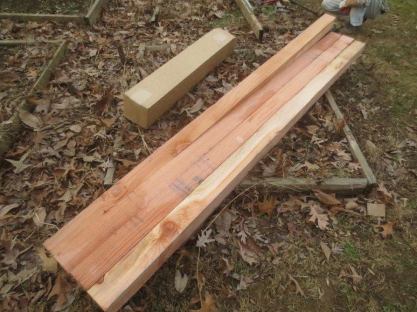 Four 8-foot long cedar posts