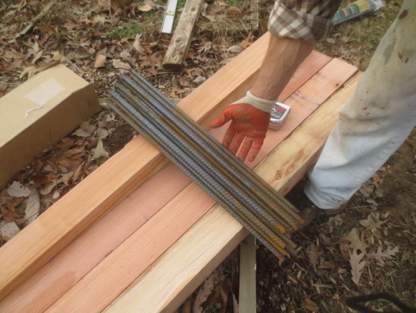 half-inch by 2-foot rebar