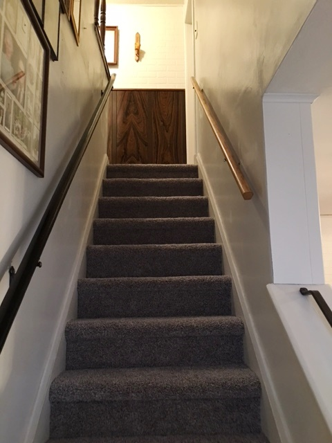 The stairs are safer now that the carpet is fitted.