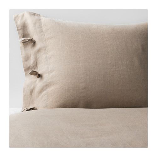 The linen duvet cover comes in white and natural depending upon what your local Ikea carries.