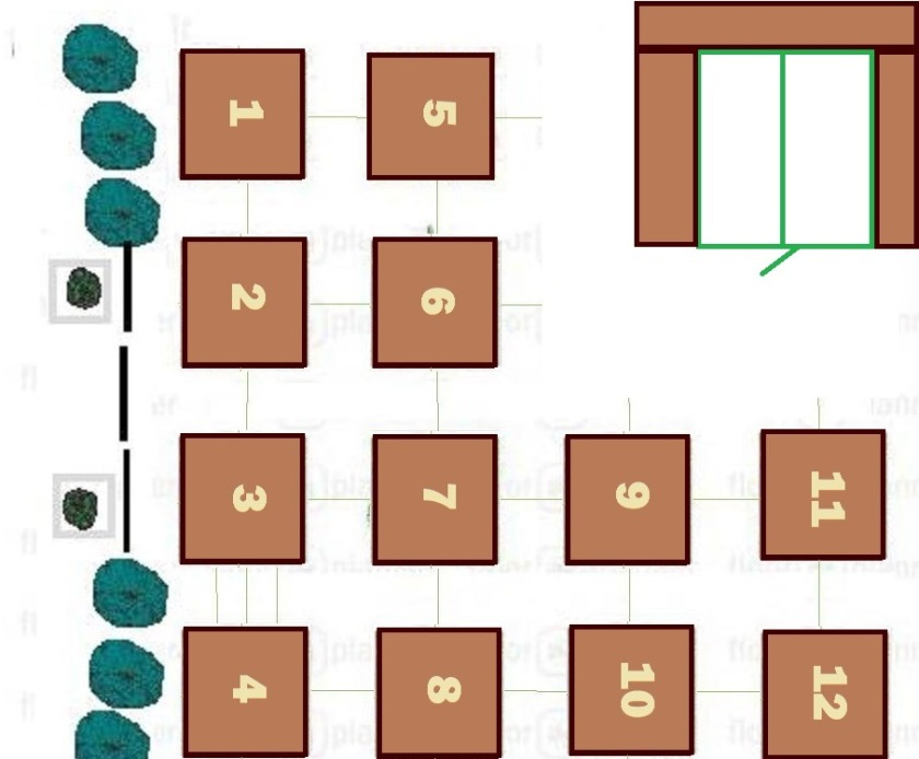 Here is the garden plan viewed from a similar angle as the photo above.