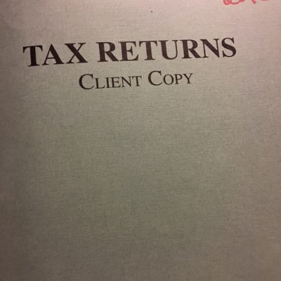 This year I'm going to get rid of decades old tax returns.