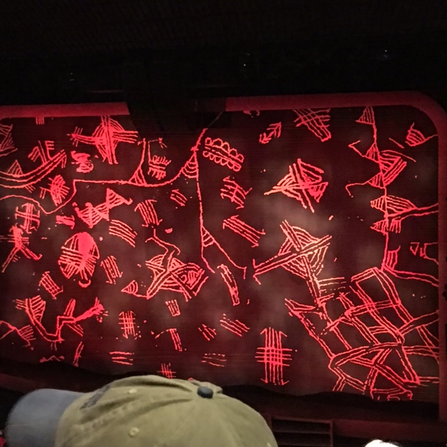 The Lion King's grand drape -- photos of the actual show are forbidden.