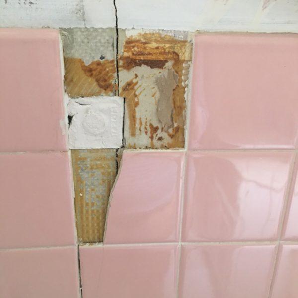 The Broken Tiles Came Off Easily.
